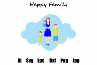 Family Flat Cloud Graphic Illustrations By faykproject