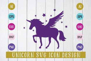 Unicorn Svg Icon Graphic Icons By Printable Store