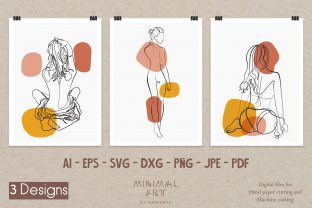 Print on Demand: 3Design Wall Art/Continuous Line, Woman Graphic Illustrations By Momixzaa