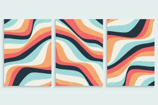Print on Demand: Abstract Colorful Wavy Lines Background Graphic Backgrounds By medelwardi