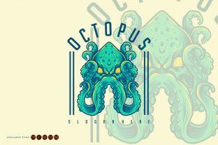 Print on Demand: Angry Octopus Dashing Kraken Graphic SVG Grafik Illustrationen von artgrarisstudio
