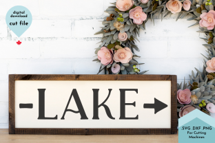 Print on Demand: Beach House SVG Cut File, Lake Arrow Graphic Crafts By Lettershapes