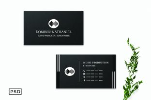 Print on Demand: Black Creative Business Card Template Graphic Print Templates By Creative Tacos