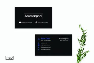 Print on Demand: Black Sober Business Card Template Graphic Print Templates By Creative Tacos