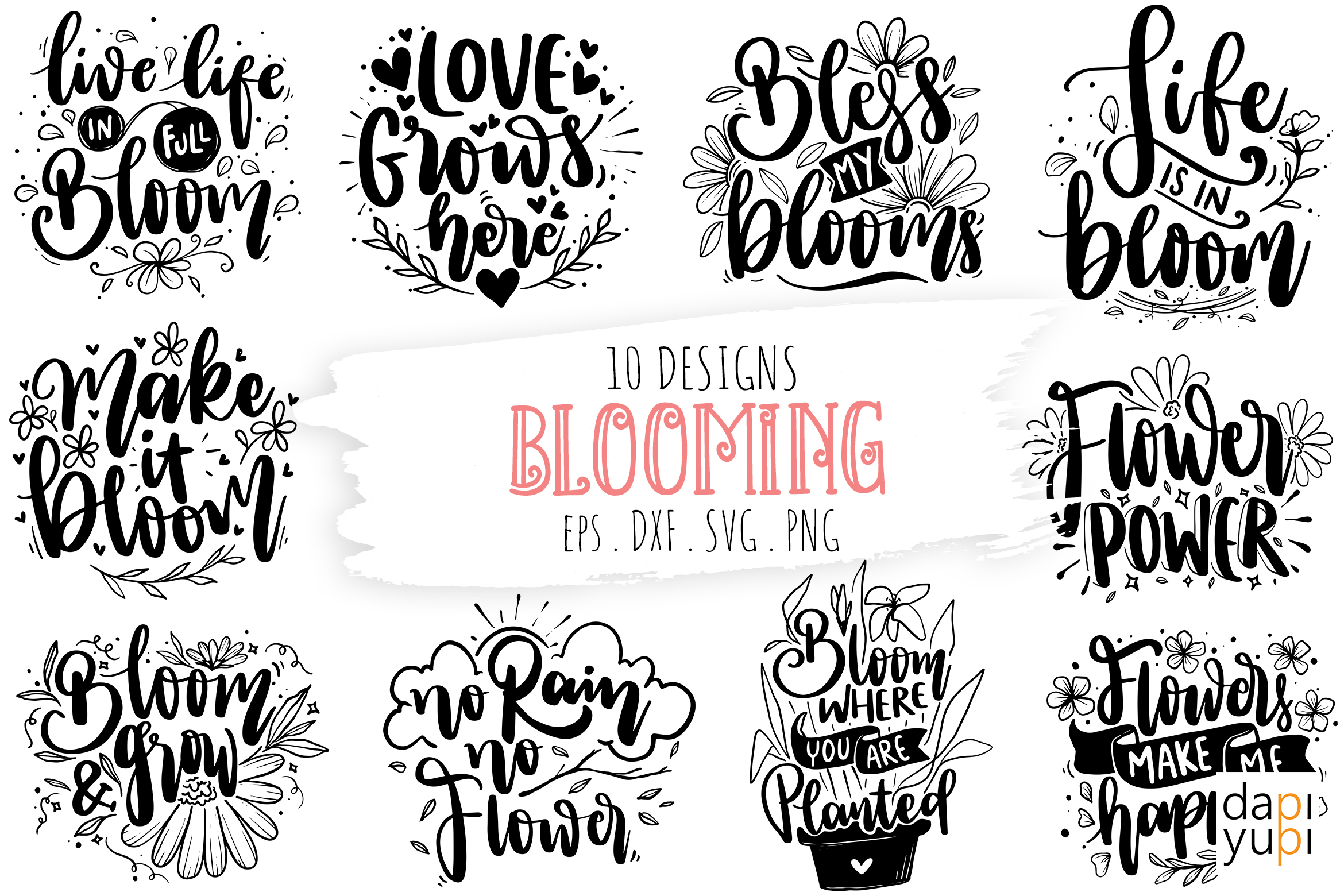 Blooming Quotes Bundle, Spring Quotes SVG File