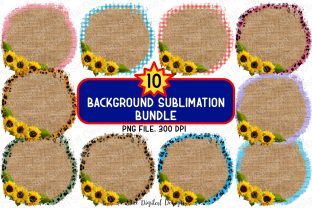 Print on Demand: Bundle Background Sublimation Clipart Graphic Backgrounds By SineDigitalDesign
