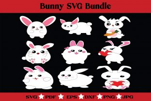 Print on Demand: Bunny SVG Bundle - Cute Bunny Clipart Graphic Illustrations By McLaughlin Mall