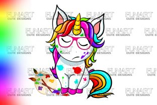 COLORS ,UNICORN CUTE DESIGN,SUBLIMATION Graphic Illustrations By Fundesings