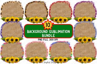 Print on Demand: Circle Background Sublimation Bundle Graphic Backgrounds By SineDigitalDesign