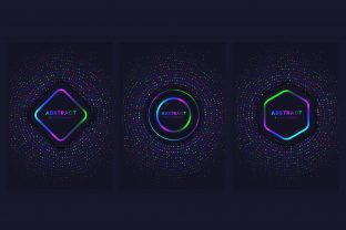 Print on Demand: Cover Background Set with Bright Circles Graphic Backgrounds By medelwardi