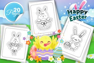 Print on Demand: Easter Scissor Skills Coloring Pages Grafik Ausmalseiten & Malbücher für Kinder von Trend Color