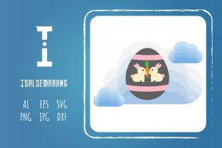 Easter Icon Design Egg Rabbit Art Vector Graphic Icons By isalsemarang