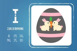 Easter Icon Egg Rabbit Art Vector Design Graphic Icons By isalsemarang
