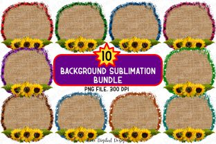 Print on Demand: Frame Background Sublimation Bundle Graphic Backgrounds By SineDigitalDesign