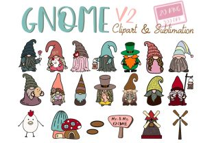 GNOME V2 Clipart, Sublimation, PNG Digit Graphic Illustrations By tanvara544