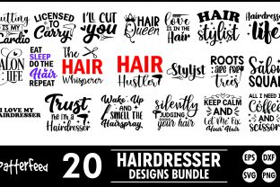 Hairdresser SVG Bundle, Hairstylist SVG Graphic Print Templates By PatternFeed