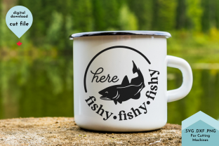 Print on Demand: Here Fishy Fishy - Fishing Mug SVG Graphic Crafts By Lettershapes