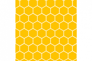 Print on Demand: Honeybee Pattern, Digital, Background Graphic Patterns By rayan