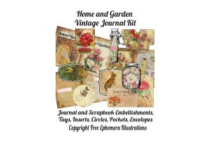 Print on Demand: House and Garden Magazine  Journal Kit Graphic Illustrations By Scrapbook Attic Studio