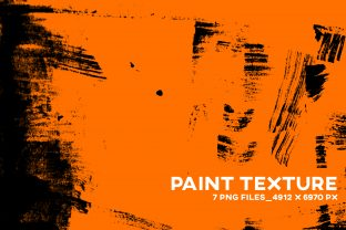 Print on Demand: Indian Ink Paint Texture Overlay PNG Graphic Textures By Inkclouddesign