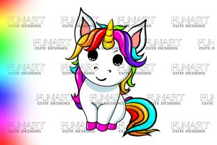 LOVELY UNICORN,CUTE DESIGN,PNG ,DIGITAL Graphic Illustrations By Fundesings