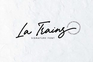 Print on Demand: La Trains Script & Handwritten Font By from letterel