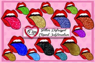 Lips Mouth Tongue Clipart Sublimation Graphic Print Templates By DenizDesign