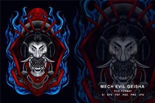 Print on Demand: Mecha Evil Geisha Illustration Graphic Illustrations By EkoZero7