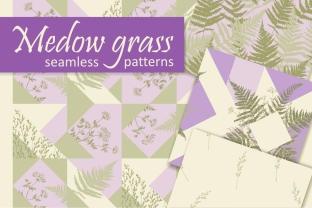 Print on Demand: Medow Grass Vector Patterns Graphic Patterns By Em-Pal