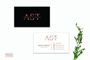 Print on Demand: Minimal Creative Business Card Template Graphic Print Templates By Creative Tacos