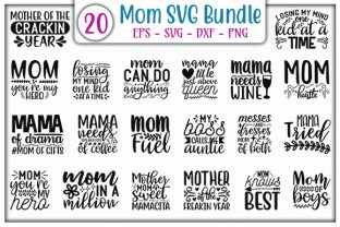 Print on Demand: Mom Quotes Design Bundle Grafik Druck-Templates von GraphicsBooth