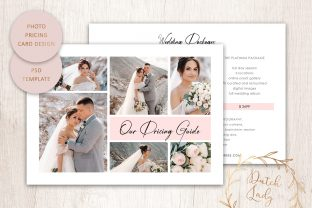 Print on Demand: PSD Photo Price Card Template #22 Graphic Print Templates By daphnepopuliers