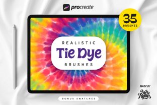 Procreate Realistic Tie-Dye Brushes Graphic Brushes By Nurmiftah