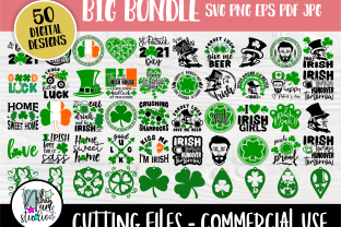 Print on Demand: St Patricks Day SVG Cut Files, Shamrock Graphic Crafts By nibaartstudio