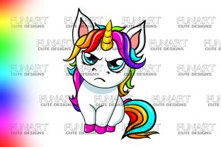 Sublimation, Rainbow Unicorn Vibes, PNG Graphic Illustrations By Fundesings