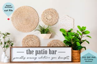 Print on Demand: The Patio Bar Funny Backyard Porch SVG Graphic Crafts By Lettershapes