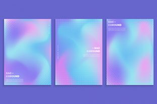 Print on Demand: Vibrant Gradient with Abstract Dots Graphic Backgrounds By medelwardi