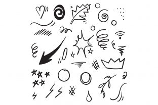 Print on Demand: Doodle Element Graphic Illustrations By GwensGraphicstudio