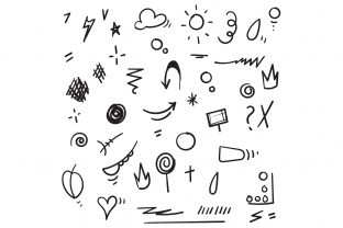 Print on Demand: Doodle Element Graphic Icons By GwensGraphicstudio