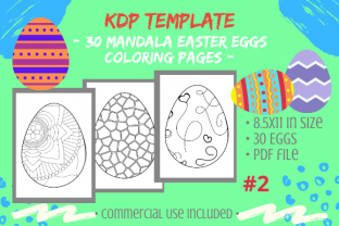 Print on Demand: 30 Easter Egg Mandalas Coloring Pages #2 Graphic KDP Interiors By Tomboy Designs