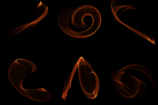 Print on Demand: Abstract Flame Isolated Background Graphic Objects By AmitDebnath