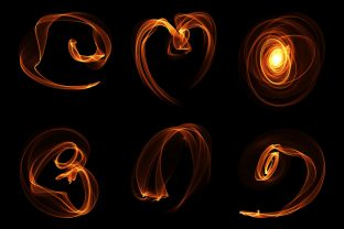 Print on Demand: Abstract Flame Isolated Elements Graphic Objects By AmitDebnath