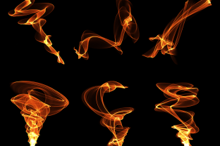 Print on Demand: Abstract Flame Isolated Transparent Png Grafik Objekte von AmitDebnath