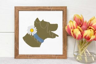 American Pitbull Daisy Collar Graphic Crafts By Designs of Whimsy