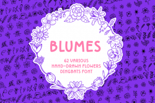 Print on Demand: Blumes Dingbats Font By Creative Fabrica Fonts