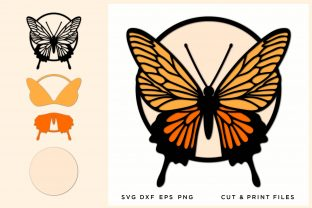 Butterfly Multilayer Graphic 3D SVG By 2dooart