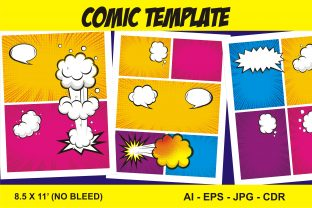 Print on Demand: Comic Blank Template Vector Graphic KDP Interiors By edywiyonopp