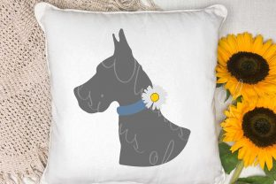 Great Dane Daisy Collar Graphic Crafts By Designs of Whimsy