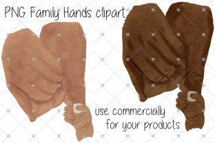 Print on Demand: Hand, Hands, Family, Baby, Mum, Dad, PNG Graphic Illustrations By CommercialCliparts