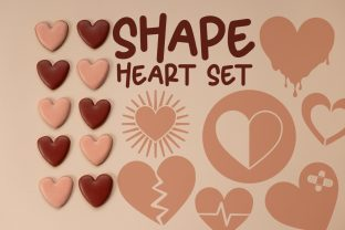 Heart Shape Set Graphic Illustrations By Firefly Designs